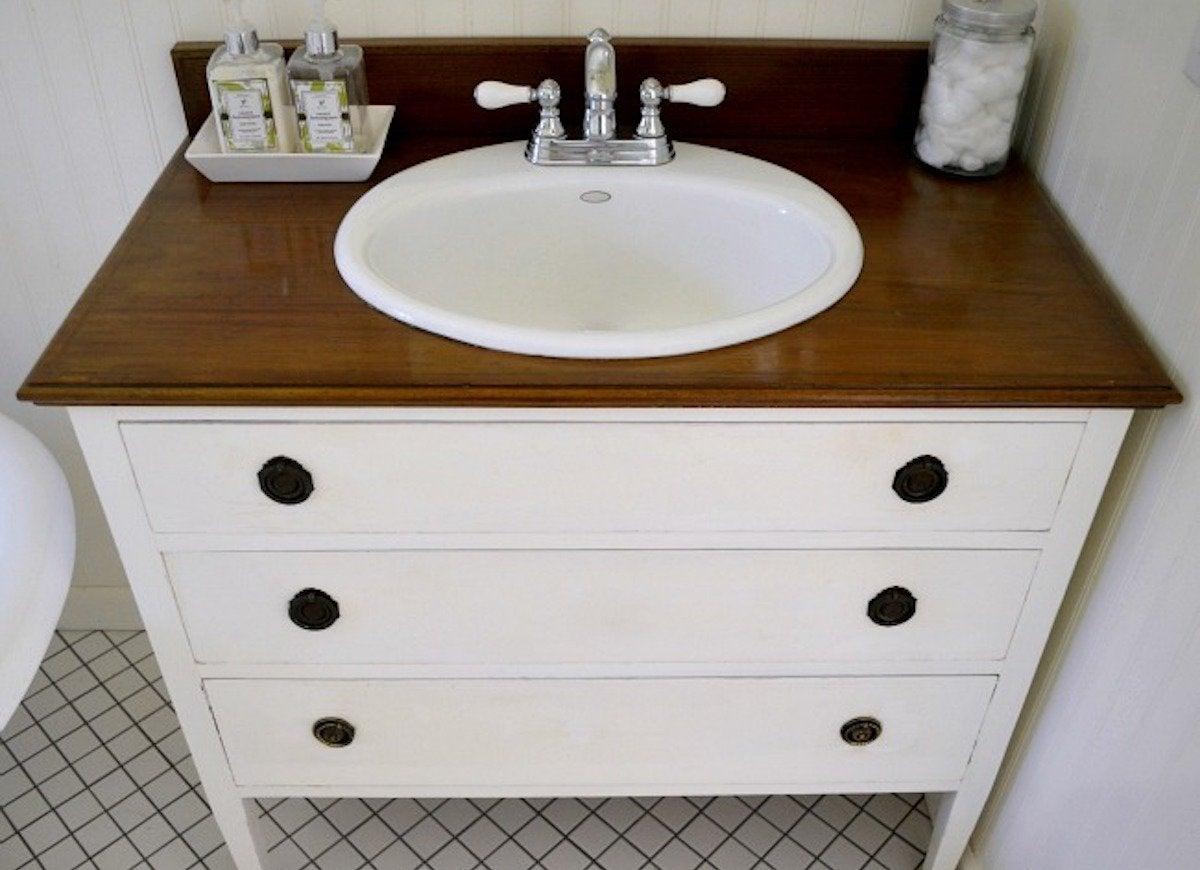 DIY Bathroom Vanity - 11 Bathroom Rehabs - Bob Vila
