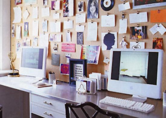 Bulletin Board Behind Desk