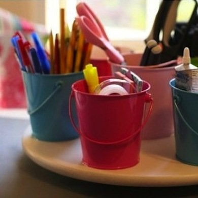 How to organize your desk 11 ideas for the home office - Lazy susan desk organizer ...