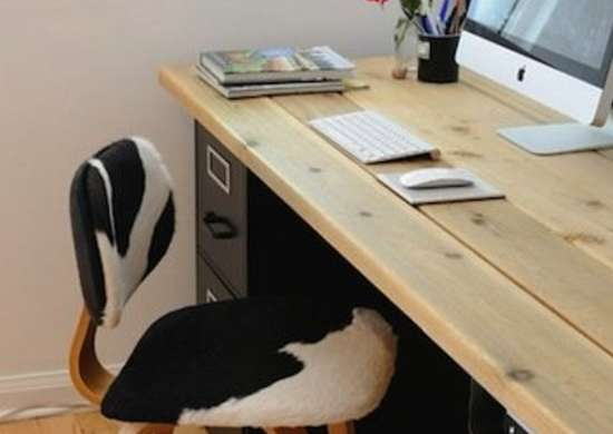 cow print desk chair - how to organize your desk - 11 ideas for