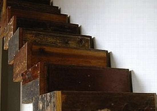Salvaged Wood Stairs