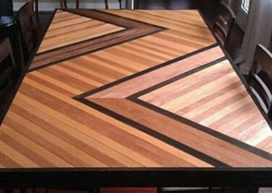 Plywood Patterned Table
