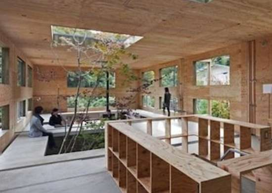 Plywood House Interior