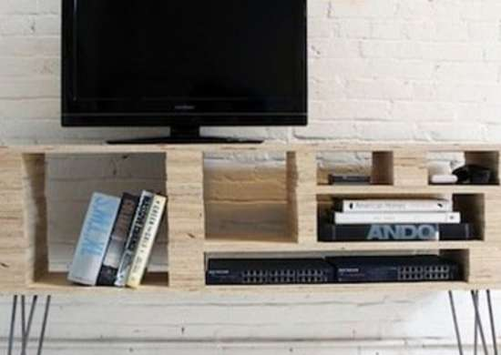 Plywood TV Table