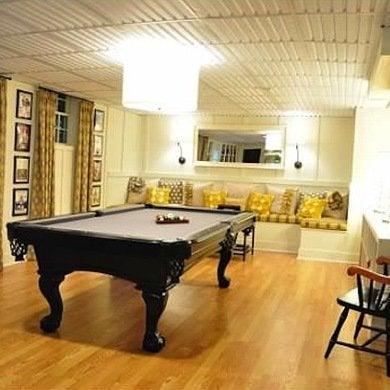 Pool table basement makeover