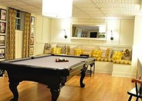 Pool-table-basement-makeover