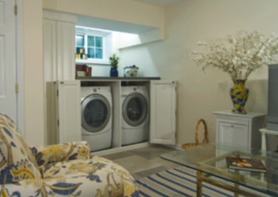 Laundry room basement makeover