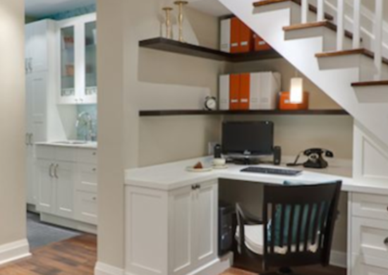 Home Office Basement Makeover