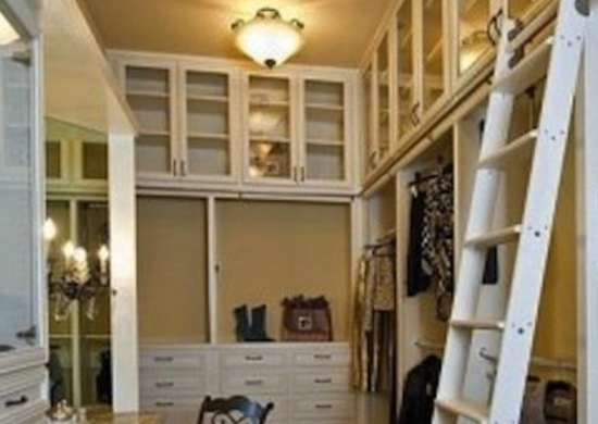 Attractive Rolling Closet Ladder