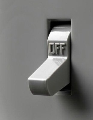 Light switch off
