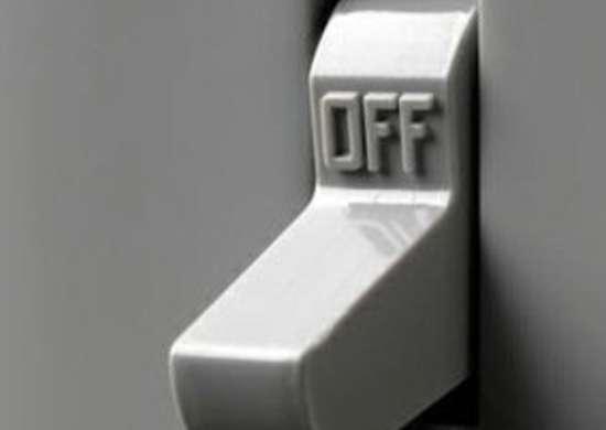 Light switch off