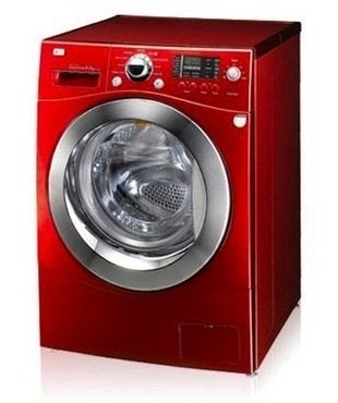Lg direct drive front load washing machine   8 5kg   red  model  wd14039d