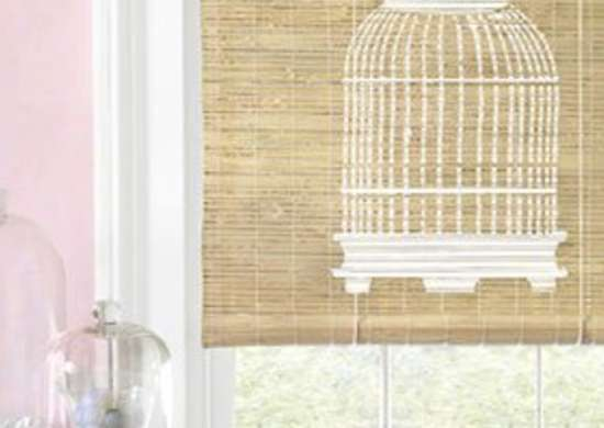 Stenciled Bamboo Shade