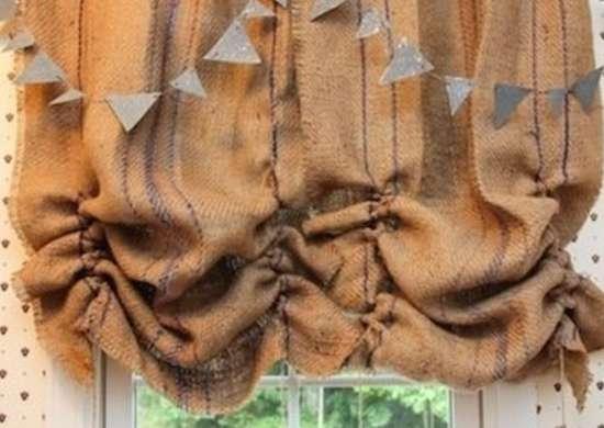 Curtains Ideas burlap sack curtains : Burlap Curtains - DIY Window Treatments – 13 Options You Can Make ...