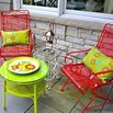 Spray Painted Lawn Furniture