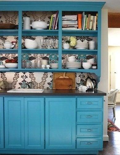 Blue Kitchen Cabinets Kitchen Cabinet Ideas 10 Easy