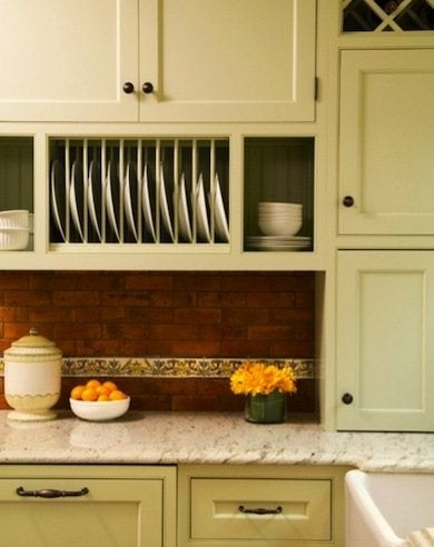 Plate Rack Cabinets Kitchen Cabinet Ideas 10 Easy Diy