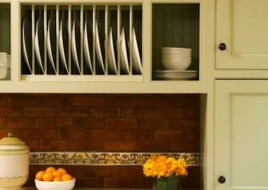 kitchen plate cabinet plate rack cabinets kitchen cabinet ideas 10 easy diy 21952