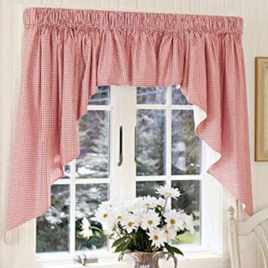 red gingham curtain country kitchen ideas 12 design