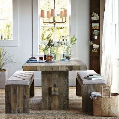 Wood farm table country kitchen ideas 12 design for Perfect country kitchen