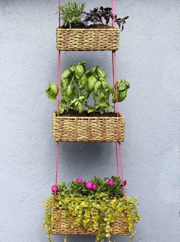 Hanging Basket Vertical Planter