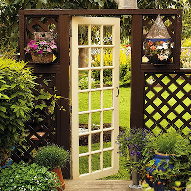 An old door integrated into your gate design makes for a grand entranceu2014and after the hours youu0027ve spent putting your green thumb to work your garden ... & DIY Garden Gate Ideas - 10 Great Entrances - Bob Vila