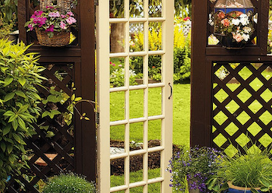An Old Door Integrated Into Your Gate Design Makes For A Grand Entranceu2014and  After The Hours Youu0027ve Spent Putting Your Green Thumb To Work, Your Garden  ...