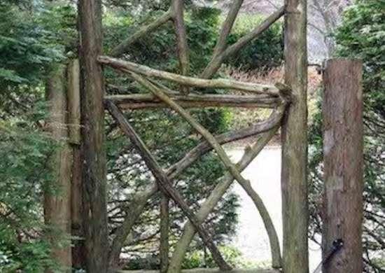 wood gate  diy garden gate ideas   great entrances  bob vila, Garden idea