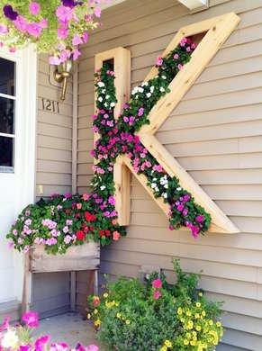 Hanging monogram planter