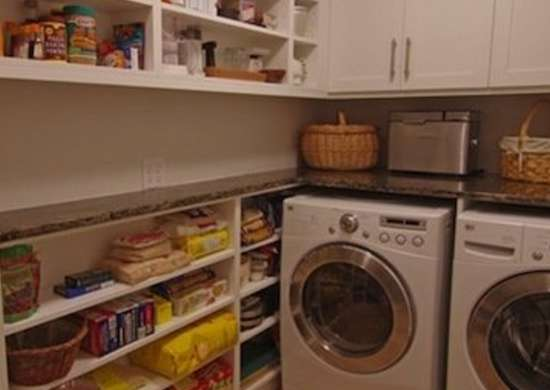 Pantry with Washer and Dryer