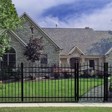 Metal Makes An Elegant And Attractiveu2014albeit Expensiveu2014ornamental Fence  Material. Most Metal Fences Feature An Open Design With Widely Spaced  Pickets And ...