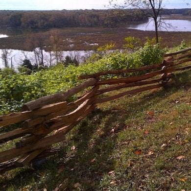 Rustic wood fence