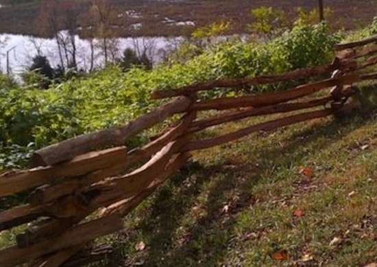 Rustic-wood-fence