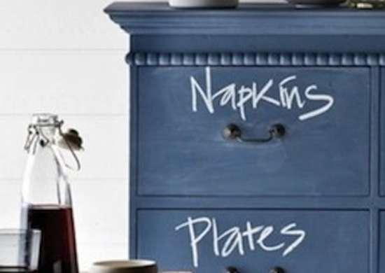 Chalkboard Paint Sideboard