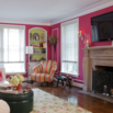 Pink Living Room Walls