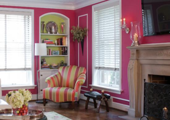 Pink Living Room Walls