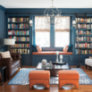 Navy Blue Living Room Walls