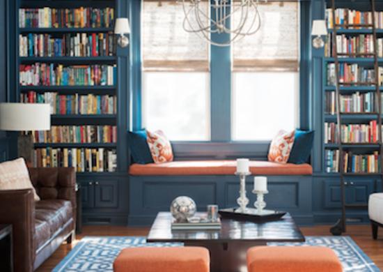 navy blue living room walls
