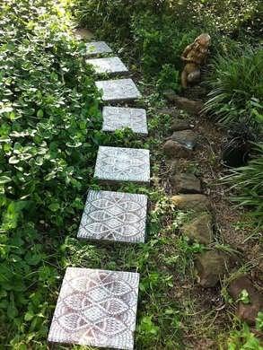 Concrete Stencil Walkway