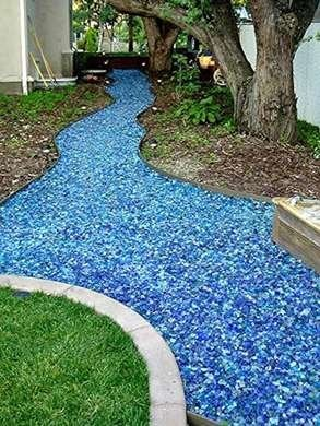 Tumbled Glass Walkway