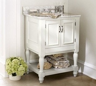 Potterybarn newport single mini sink console bathroom vanity
