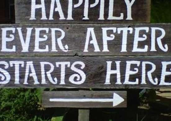 Stencil Wedding Sign