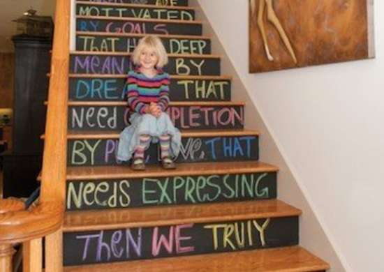 Chalkboard Paint Stairs