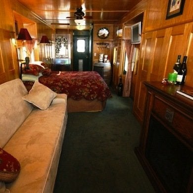 Perfect Warm Oak Paneling And Luxurious Upholstery Give This Converted Train Car  The Illusion ...
