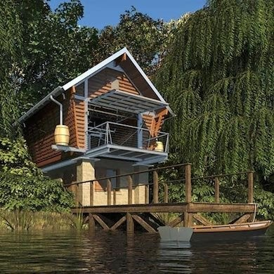 Tiny house designs 10 tiny lake houses bob vila for Prefab lake homes