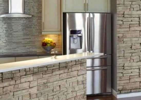 Stone Veneer Kitchen Walls