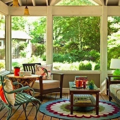 Screen Porch Patio Furniture Isn T Always As Comfortable Year Round Indoor But Adding Large Cushions Boosts The Cozy Factor And Could Make