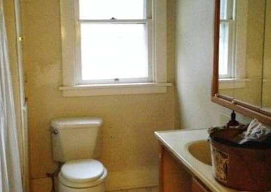 Dingy Yellow Bathroom