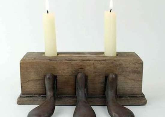 Piano Pedal Candle Holder
