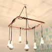Copper Pipe Chandelier